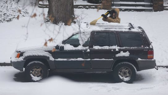 Snow scene from Jan. 4, 2016.