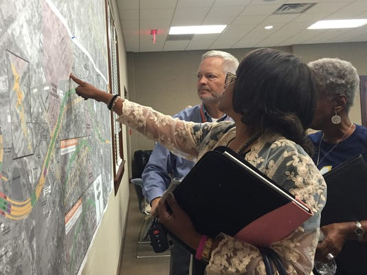 Reviewing I-49 Connector plans
