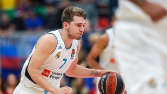Feb. 1, 2018: Luka Doncic of Real Madrid drives the ball during the 2017-2018 Euroleague Basketball match between Moscow CSKA and Real Madrid.