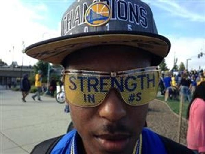 Temeterius O'Bannon, 15, of Fairfield, wears special