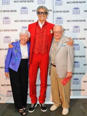 Tamar Maltz, left, with Tommy Tune and Milton Maltz at the November 2017 benefit concert where $183,000 was raised for the not-for-profit Maltz Jupiter Theatre. The Milton and Tamar Maltz Family Foundation is offering a $5 million matching grant challenge as part of the theater's $32 million Believe capital campaign.