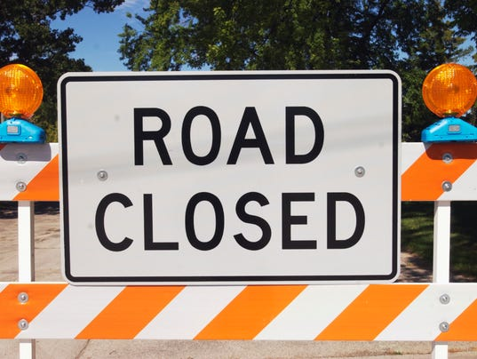 Road Closed Sign Construction