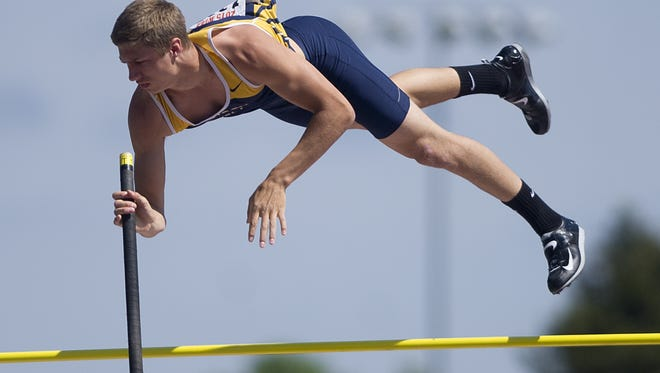 Wausau West's John Cihlar finished 11th in the Division 1 boys pole vault during the WIAA state track meet last year.