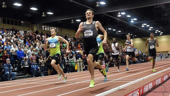Erik Sowinski of Waukesha wins the 600 meters during the USA Indoor Championships at the Albuquerque Convention Center.