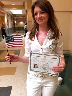 Agnieszka Ritzel became a naturalized U.S. Citizen Thursday, Sept. 17, 2015.