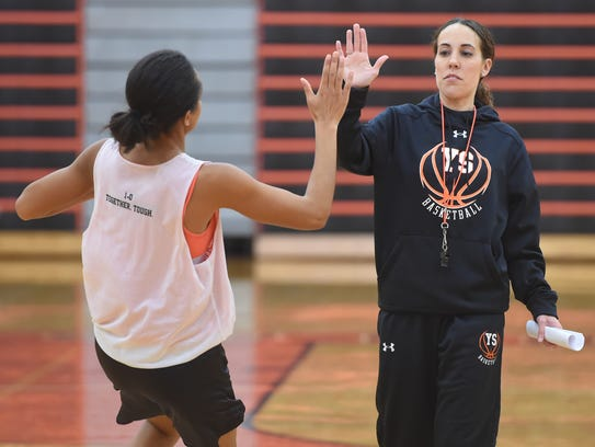Jess Barley, the head coach of the York Suburban girls