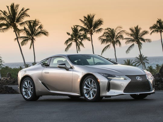 The Lexus LC 500h. The GS 450h midsize sedan, the LC