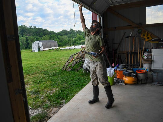Jesse Fleisher of Athena's Harvest opens up the farm's