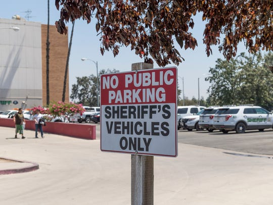 Tulare County Sheriff Department headquarters on Tuesday,