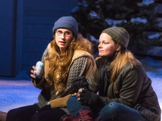"Karen Janes Woditsch and Erica Elam perform in ""Almost, Maine."""