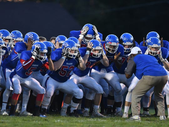 The Reading Blue Devils take the field against Taylor