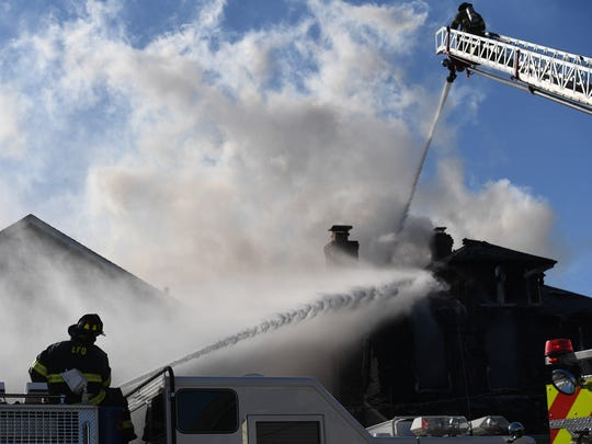House fire on Page Ave. in Lyndhurst on Saturday, January