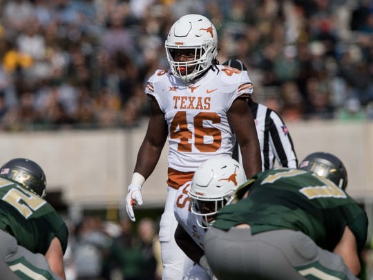 Texas Longhorns linebacker Malik Jefferson