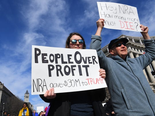 Demonstrators gather at the March For Our Lives rally in Washington, D.C.