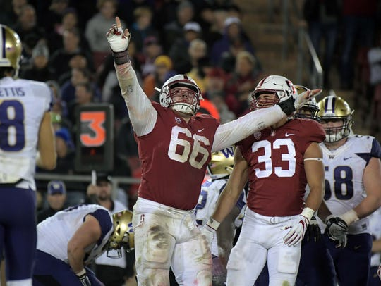 Stanford Cardinal defensive tackle Harrison Phillips