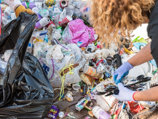 Volunteers removed nearly 1,500 pounds of trash left