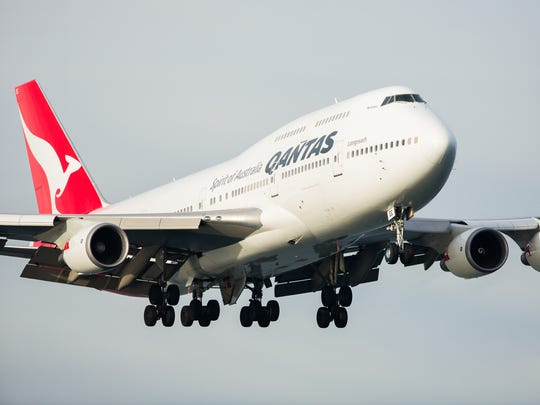 This file photo provided by Qantas shows one of the
