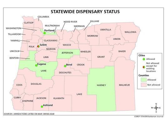 Oregon Dispensary Status