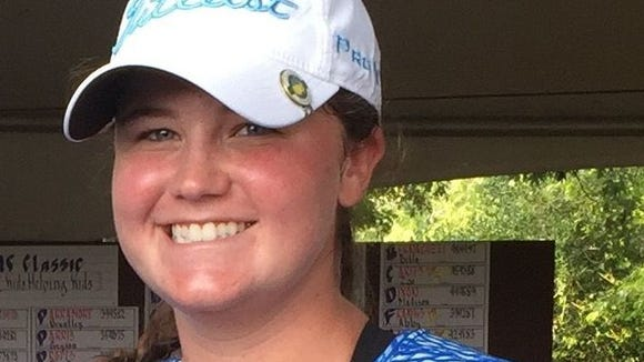Daniel senior Katie Whitfield is second and her team is second after Monday's first round of the Class AAAA state golf tournament at Hilton Head Island.