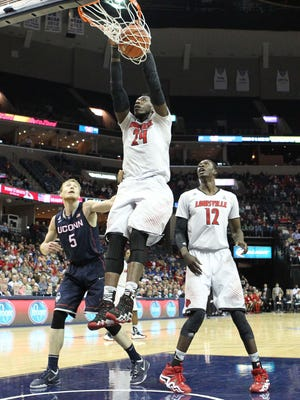 Louisville's Montrezl Harrell finishes strong.