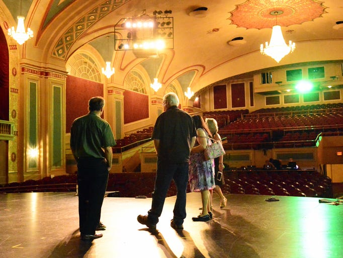 The magnificent Strand Theater stage.