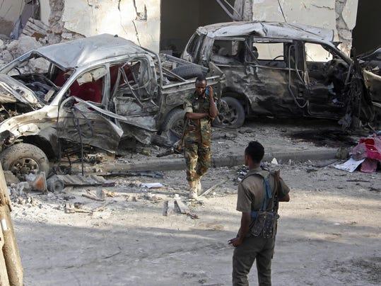 APTOPIX Somalia Explosion