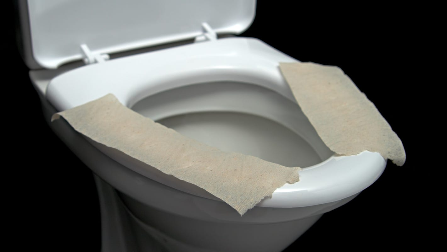 gold toilet seat cover.  What happens when you don t use a toilet seat cover