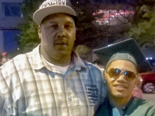 Terrill Thomas (left) is shown with his 20-year-old