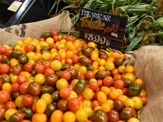 Fresh cherry tomatoes are available Monday, July 16,