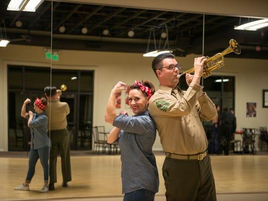 David Cordero, of Sorenson Advertising, and his dance