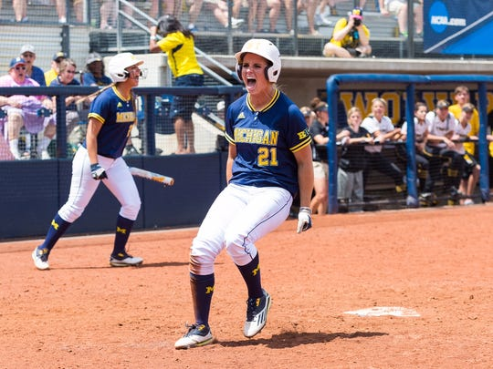 Michigan softball earned a dramatic 5-4 victory over Missouri in the Super Regional at the Wilpon Complex in Ann Arbor, MI. on Sunday, May 29, 2016.