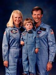 "Rhea Seddon; her husband, Robert ""Hoot"" Gibson; and"