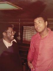 Bill Walker, in 1974, got to meet Muhammad Ali at the