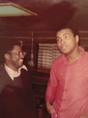 Bill Walker, in 1974, got to meet Muhammad Ali at the champ's training camp in Pennsylvania.