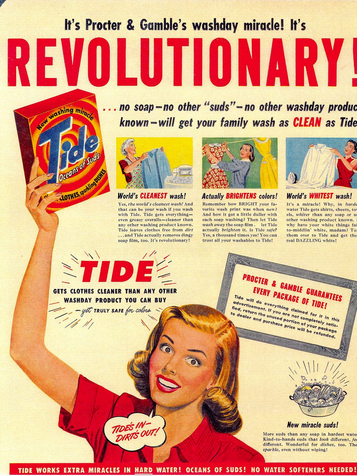 Procter and Gamble ad for Tide from 1946.