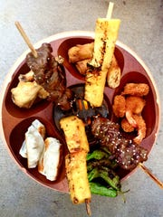 Pu Pu Platter at the Pearl Diver tiki bar in East Nashville.