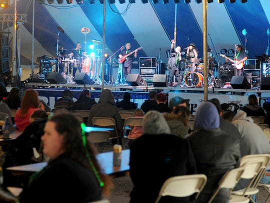 No Limits performs at Wichita Falls St. Patrick's Day Downtown Street Festival Saturday, March 11, 2017, at the corner of Eighth and Indiana streets.