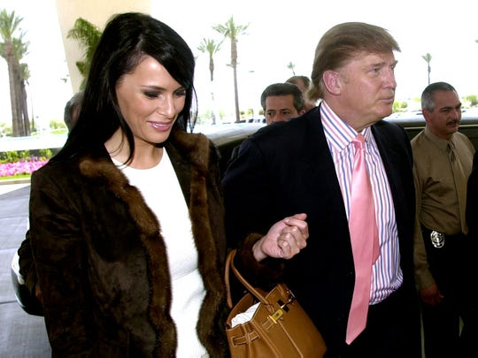 Donald Trump and Melania Knauss (who would later become Melania Trump) at Trump 29 Casino in Indio