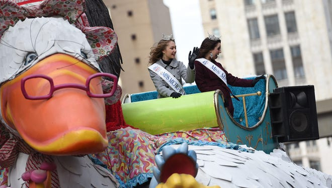 Before it died, the Mother Goose float, sponsored by The Detroit News, was rolling down Woodward Avenue during the 89th annual America's Thanksgiving Parade.