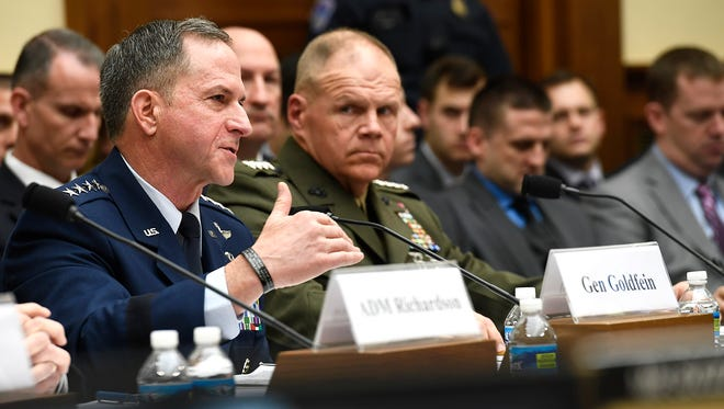 Air Force Chief of Staff Gen. David Goldfein testifies before the House Armed Services Committee April 5, 2017, in Washington, D.C., on the impacts of operating the service under a year-long continuing resolution.  Goldfein testified with his service chief counterparts.