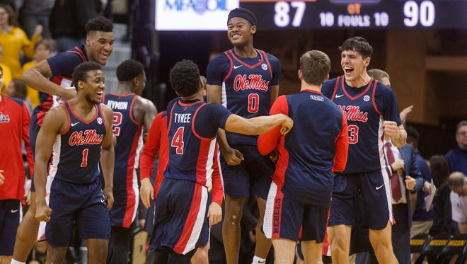 Ole Miss snapped its seven-game losing streak with an upset win over Missouri Tuesday night.