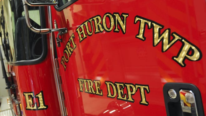 Port Huron Township firefighters were at a fire at the Darlington Efficiency Apartments.