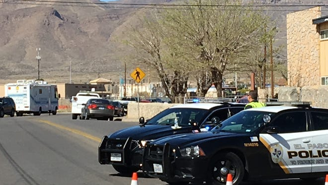 El Paso police investigate a fatal shooting Monday in the 5200 block of Wren Avenue in the Northgate area in Northeast El Paso.