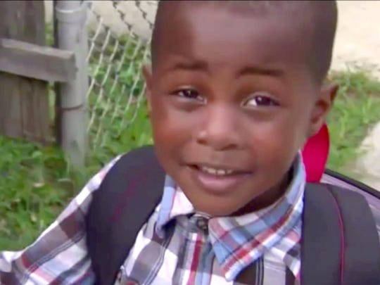 Javon Moore is shown during an interview after getting off his school bus is Asbury Park.  On Tuesday, a private bus company dropped the 5-year-old boy with autism off at the wrong stop, prompting the city's school district to launch an internal investigation and pledge more training for drivers.
