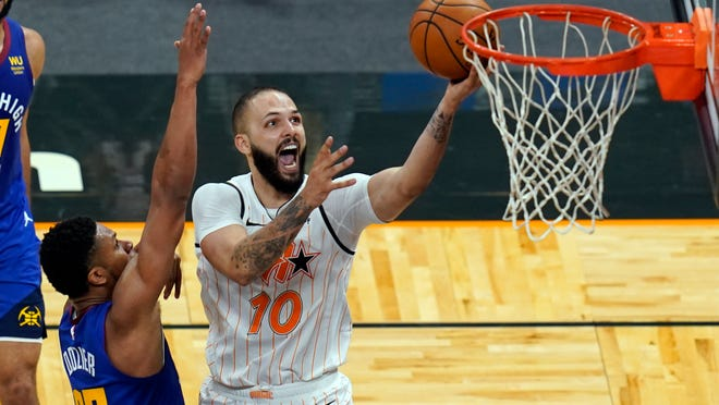 Evan Fournier, acquired by the Celtics in a trade with the Orlando Magic, is expected to add some offense to Boston's lineup.