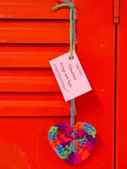 On the morning of Valentine's Day, Voorhees High School students found a gift on their locker, a handcrafted heart with a special message. These hearts were not to celebrate the annual romantic holiday, but instead these were Peyton Hearts, created to represent the heart of a life lost to suicide.