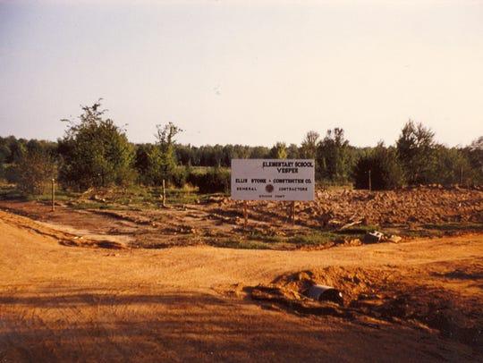 Groundbreaking at the site of the new Vesper School in 1959.