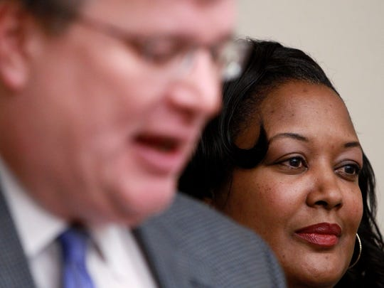 February 15, 2016 - Memphis Mayor Jim Strickland announced Joann Massey as director of Minority and Women-Owned Business Development. (Mike Brown/The Commercial Appeal)