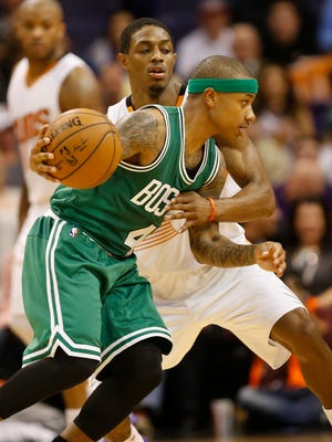 Isaiah Thomas averaged 15.2 points as a Suns sixth man in 55 games, one of which he started when Eric Bledsoe left for his son's birth.