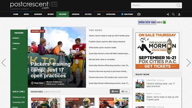 New look to postcrescent.com.